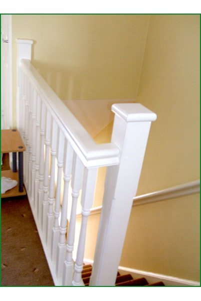 Staircase Regulations Uk >> Case Study - Softwood Quarter Landing Stairs