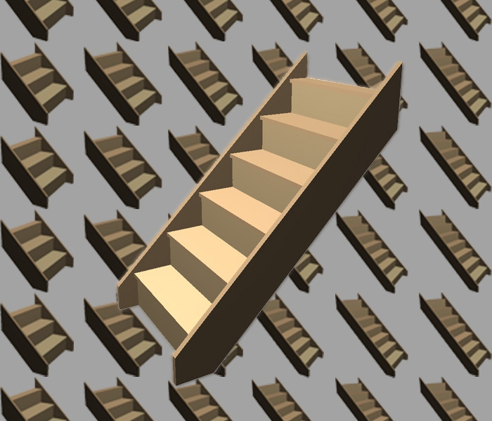 Softwood Staircases - Flat Pack Kits