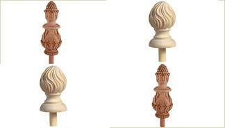 Handcarved Finials.