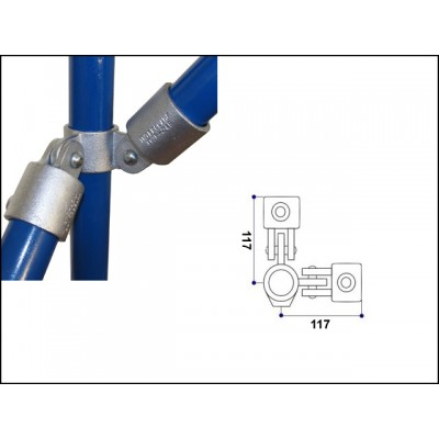 Interclamp 168-E60 - 90 degree Corner Double Swivel Combination