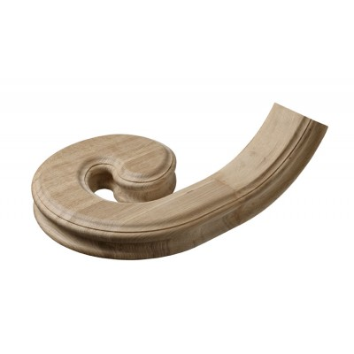 Richard Burbidge WOHCVL-LH Heritage Handrail Left Hand Volute - White Oak