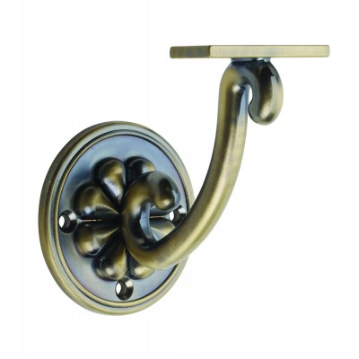 Richard Burbidge ABPWB Handrail Wall Bracket - Petal - Antique Brass