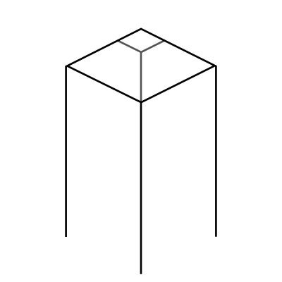 Angled with Flat Top - 90 x 90 PSTSQ Newel Post Square [Design 4]