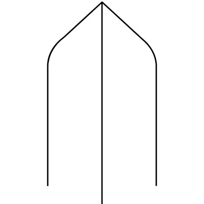 Bishop Hat - 90 x 90 PSTSV Stop Ovolo Newel Post Square [Design 9]