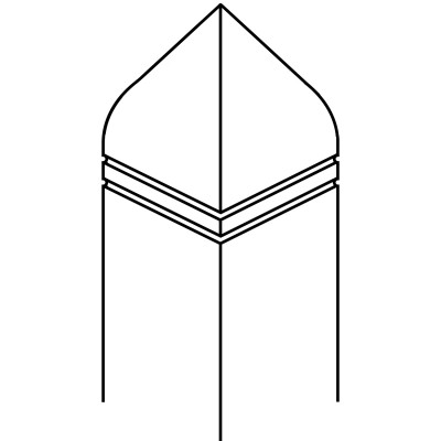 Bishop Hat with Double Kerf - 90 x 90 PSTSV Stop Ovolo Newel Post [DESIGN 13]