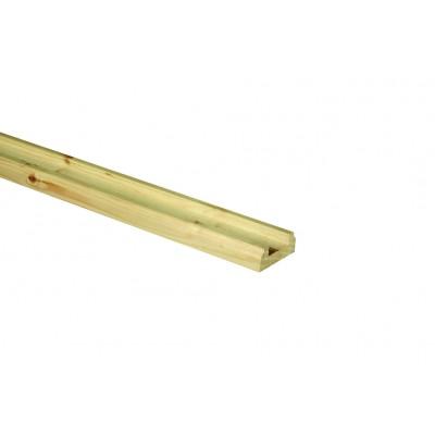 Richard Burbidge BR3600/41P Hallmark Pine Baserail for 41mm Spindles 3.6m