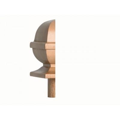 Staircase Half Newel Cap - Half Square Acorn Cap - Fernhill Range 60 x 120mm