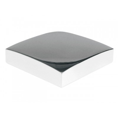 Flat Metal Newel Cap - Chrome 90 x 90mm