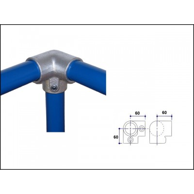 Interclamp 128-A27 - Corner (Top Rail)