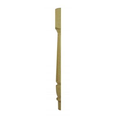 Richard Burbidge CWOFNT160HALF Classic White Oak Fluted Newel Turning 90x725mm Half