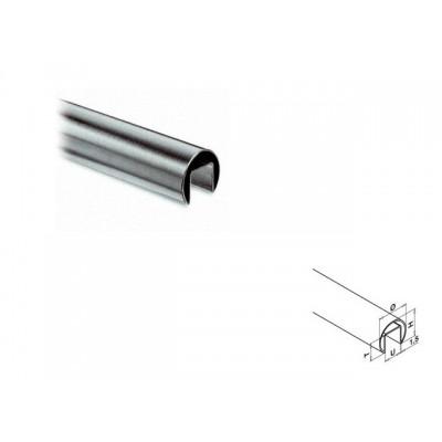 Q-Railing - Cap rail, Dia 42.4 mm x 1.5 mm, L=2500 mm, U=24 mm x 24 mm, stainless steel 304 interior, satin