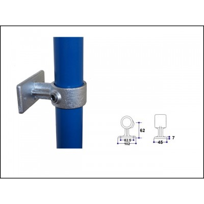Interclamp 143-C42 - Handrail wall bracket
