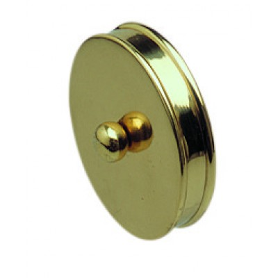 Richard Burbidge RHR01M Handrail Metal End Cap - Brass 54mm