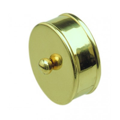 Richard Burbidge RHR02M Handrail Metal End Cap - Brass 54mm