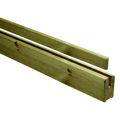 Richard Burbidge LD263 Classic Outdoor Naturewood Glass Panel Carrying Rail 2400mm