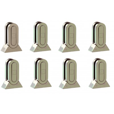 Richard Burbidge MMGPB8 Fusion Brushed Nickel Glass Panel Bracket (pack of 8)