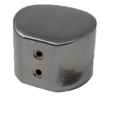 MOPSTICK 54MM HANDRAIL END CAP - BRUSHED NICKEL