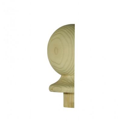Richard Burbidge NC2/90HALF Trademark Hemlock Newel Cap Ball Half 90mm