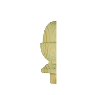 Richard Burbidge NC3/90PHALF Trademark Pine Newel Cap Acorn Half 90mm