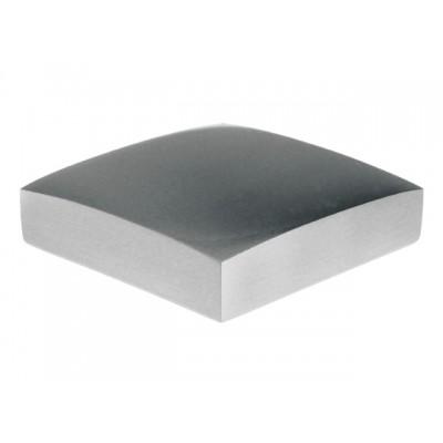 Flat Metal Newel Cap - Nickel 90 x 90mm