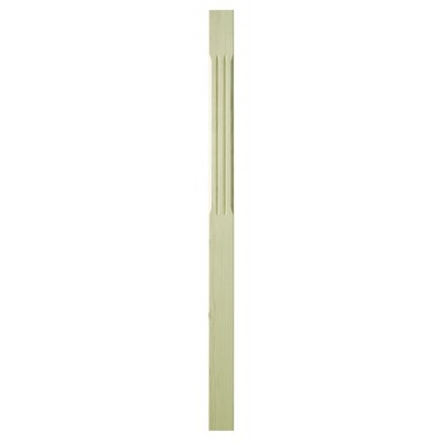 Richard Burbidge SCFNP1500/90P Trademark Pine Complete Stop Chamfer Flute Newel 90x1500mm