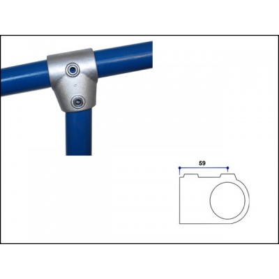 Interclamp 153-D48 - Short Slope Tee (0 - 11 degree)