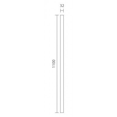 Richard Burbidge STK110/32W Trademark Primed Plain Stick Baluster 32x1100mm