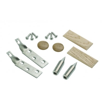 Richard Burbidge TBRWO ELEMENTS Newel Fixing Stair Bracket - White Oak