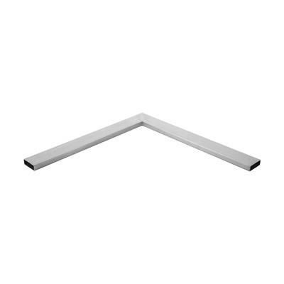 Q-Railing - Angled tube, 90 degree, Square Line, tube 60x20x2 mm, L=500 x 500 mm, stainless steel 316 exterior, satin [PK2]