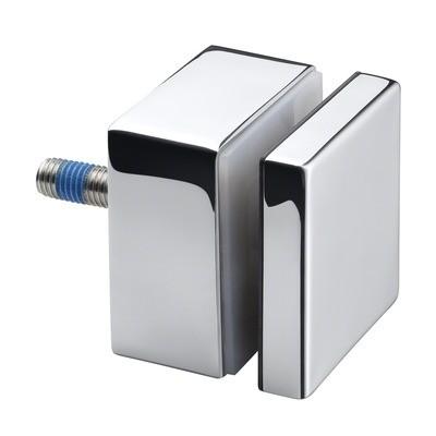 Q-Railing - Glass adapter, square, 50x50 mm, flat, M10 thread, base 30 mm, 8-21.52 mm glass, st. steel 316 exterior, pol. MOD 4747 [PK2]