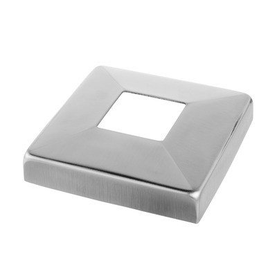 Q-Railing - Cover cap for base glass clamp MOD 62, stainless steel 316 exterior, satin [PK2]