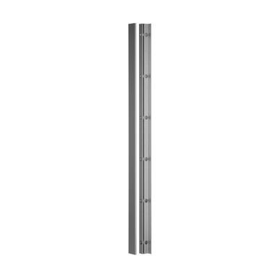 Q-Railing - Easy Glass View, wall profile, vertical, L=5000 mm, aluminium, matt silver eff., anod. 25 micrometre