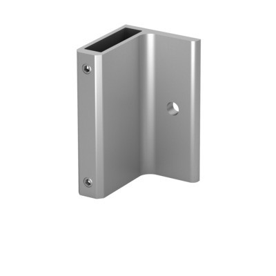 Q-Railing - Bracket for post profile, Easy Alu, fascia mount,120x70 mm, aluminium, mill finish