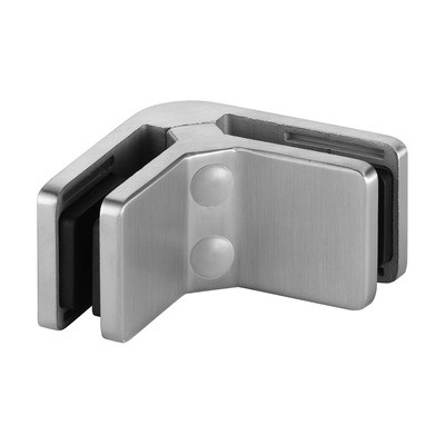 Q-Railing - Glass connector, angle 90 degree, MOD 42, excl. rubber inlay, stainless steel 316 exterior, satin [PK2]