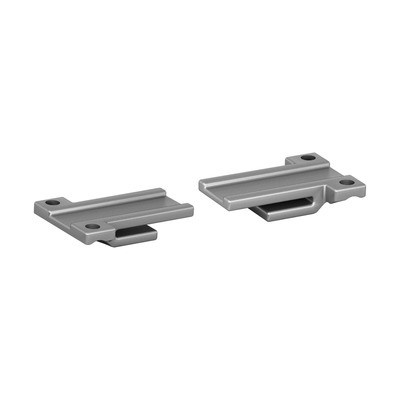 Q-Railing - Handrail adapter, Easy Glass Air, set (2x),flat, stainless steel 316, glass bead blasted - [14650110002]