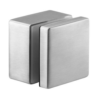 Q-Railing - Glass adapter, square, 50x50 mm, flat, M10 thread, base 30 mm, 8-21.52 mm glass, st. steel 316 exterior, satin MOD 4747 [PK2]- [14474730012]