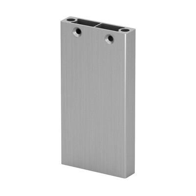 Q-Railing - Post profile, Easy Alu, 60x15 mm,H=1065 mm, brushed aluminium, anodized 25 micrometre - [16056010718]