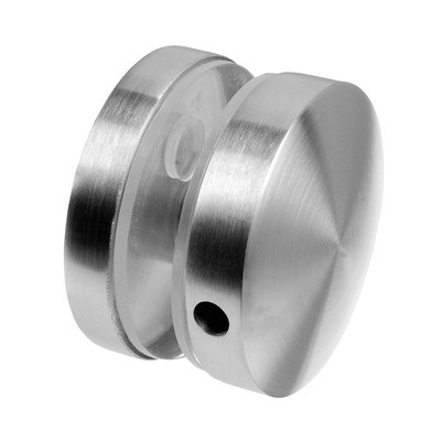 Q-Railing - Glass connector, MOD 0742, Dia 50 mm, for 12.76 - 20.76 mm glass, st. steel 316 exterior, satin MOD 0742 [PK2]