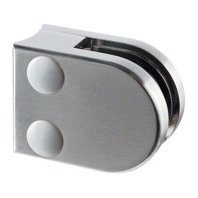 Q-Railing - Glass clamp, MOD 27, excl. rubber inlay, tube Dia 42.4 mm, zamak, stainless steel effect [PK4]