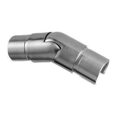 Q-Railing - Adjustable flush angle, (25 degree-55 degree), downwards, glass frame tube, Dia 30 mm, st. steel 304 interior, satin [PK2]- [13630203012]