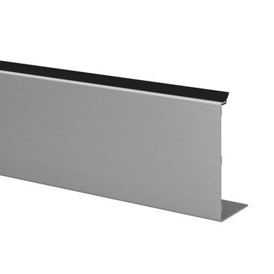 Q-Railing - Cladding, Easy Glass Smart, fascia mount, outside, L=5000 mm, alu, st. steel effect, anod. - [16692053118]