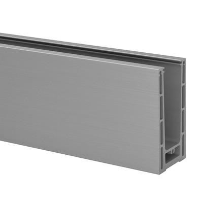 Q-Railing - Easy Glass Prime, base shoe, top mount,L=5000 mm, brushed aluminium, anodized 25 micrometre