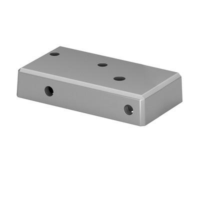 Q-Railing - Base flange for post profile, Easy Alu,right, brushed aluminium, anodized 25 micrometre