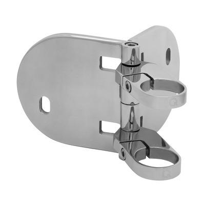 Q-Railing - Baluster bracket, MOD 0555, fascia mount, angle adj., tube Dia 42.4 mm, st. steel 316 exterior, polished