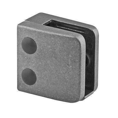 Q-Railing - Glass clamp, MOD 26, excl. rubber inlay, flat, zamak, raw [PK4]- [10260000000]