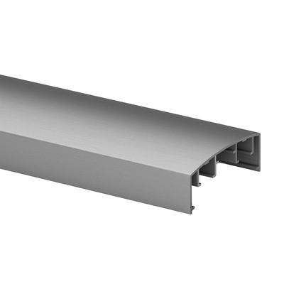 Q-Railing - Handrail profile, Easy Alu, 70x26 mm, to click in,L=5000 mm, brushed aluminium, anodized 25 micrometre