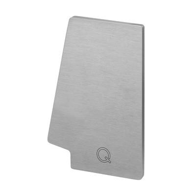 Q-Railing - End cap, Easy Glass Pro, top mount, right, Linear Light, aluminium, st. steel eff. IX, anod. - [16673512109]