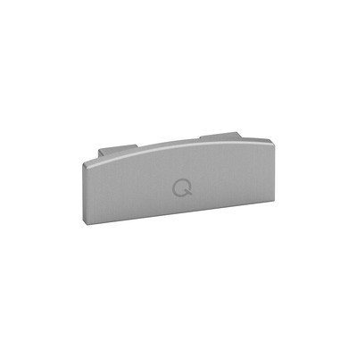 Q-Railing - End cap, Easy Hit, for handrail Easy Alu,brushed aluminium, anodized 25 micrometre [PK2]- [16573207018]