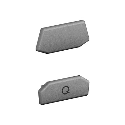 Q-Railing - End cap, Easy Glass Air, glass connector, top,set (2x2), stainless steel 316, glass bead blasted - [14653470002]