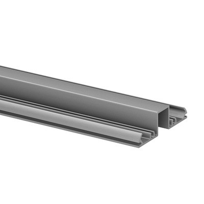 Q-Railing - Glass frame profile, Easy Alu, top, 67x19 mmL=5000 mm, aluminium, mill finish
